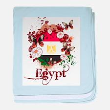 Butterfly Egypt baby blanket