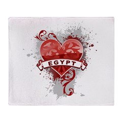 Heart Egypt Throw Blanket