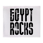 Egypt Rocks Throw Blanket