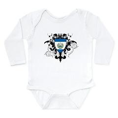 Stylish El Salvador Long Sleeve Infant Bodysuit