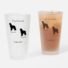 2 Newfoundlands Pint Glass