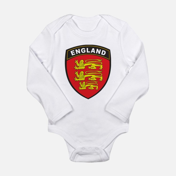 England Long Sleeve Infant Bodysuit