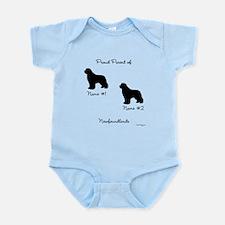 2 Newfoundlands Infant Bodysuit