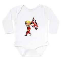 3D England Long Sleeve Infant Bodysuit