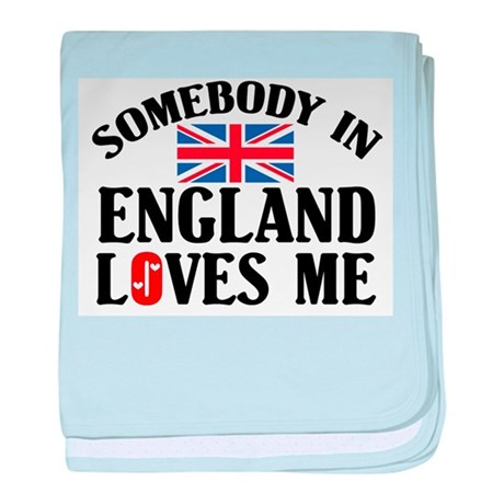 Somebody In England baby blanket