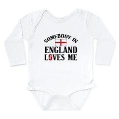 Somebody In England Long Sleeve Infant Bodysuit