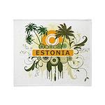 Palm Tree Estonia Throw Blanket