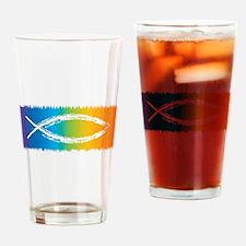 Retro Jesus Fish Pint Glass