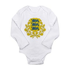 Estonia Coat Of Arms Long Sleeve Infant Bodysuit