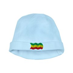 Wavy Ethiopia Flag baby hat