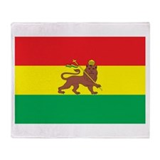 Ethiopia Flag 1897 Throw Blanket