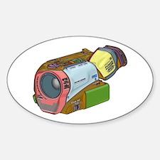 Designer Camcorder Sticker (Oval)
