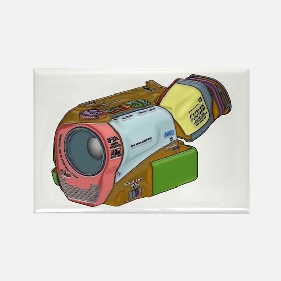 Designer Camcorder Rectangle Magnet