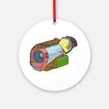 Designer Camcorder Ornament (Round)