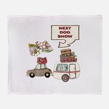Next Dog Show Throw Blanket