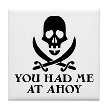 Ahoy Pirate Tile Coaster