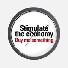 Stimulate The Economy Wall Clock