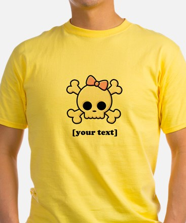 [Your text] Cute Skull Girl T