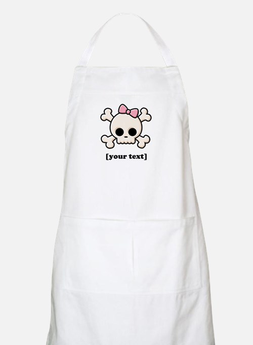 [Your text] Cute Skull Girl Apron