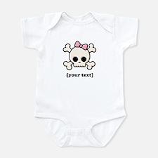 [Your text] Cute Skull Girl Infant Bodysuit