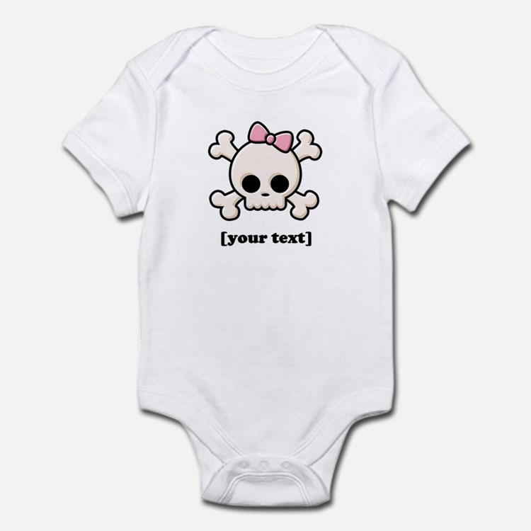 [Your text] Cute Skull Girl Infant Bodysuit