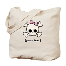 [Your text] Cute Skull Girl Tote Bag