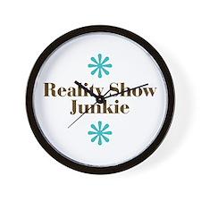 Reality Show Junkie Wall Clock