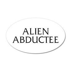 Alien Abductee 22x14 Oval Wall Peel