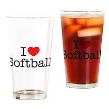 I love Softball Pint Glass
