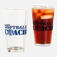 Future Softball Coach Pint Glass