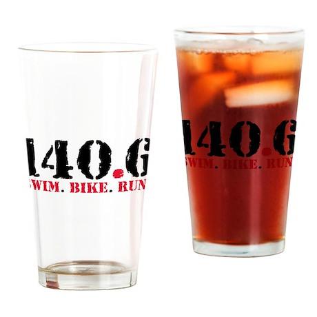 140.6 Swim Bike Run Drinking Glass