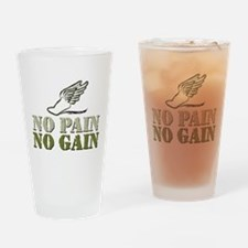 No Pain No Gain Track Pint Glass