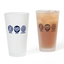 Peace Love Volleyball Pint Glass