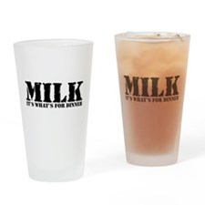 Milk for dinner Pint Glass
