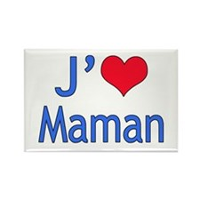 I Love Mom (French) Rectangle Magnet