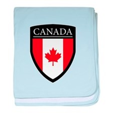 Canada Flag Patch baby blanket