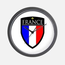 France Flag Patch Wall Clock