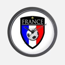 France Soccer Patch Wall Clock