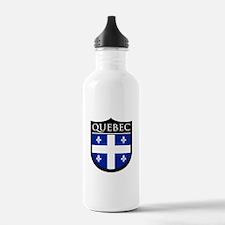 Quebec Flag Patch Water Bottle