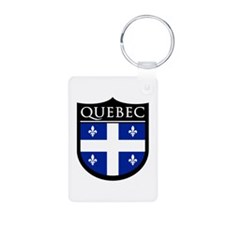 Quebec Flag Patch Keychains