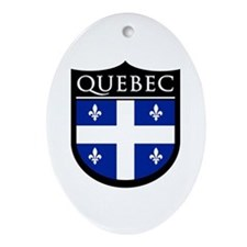 Quebec Flag Patch Ornament (Oval)