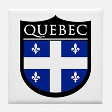 Quebec Flag Patch Tile Coaster