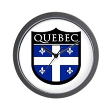 Quebec Flag Patch Wall Clock