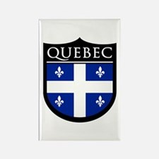 Quebec Flag Patch Rectangle Magnet