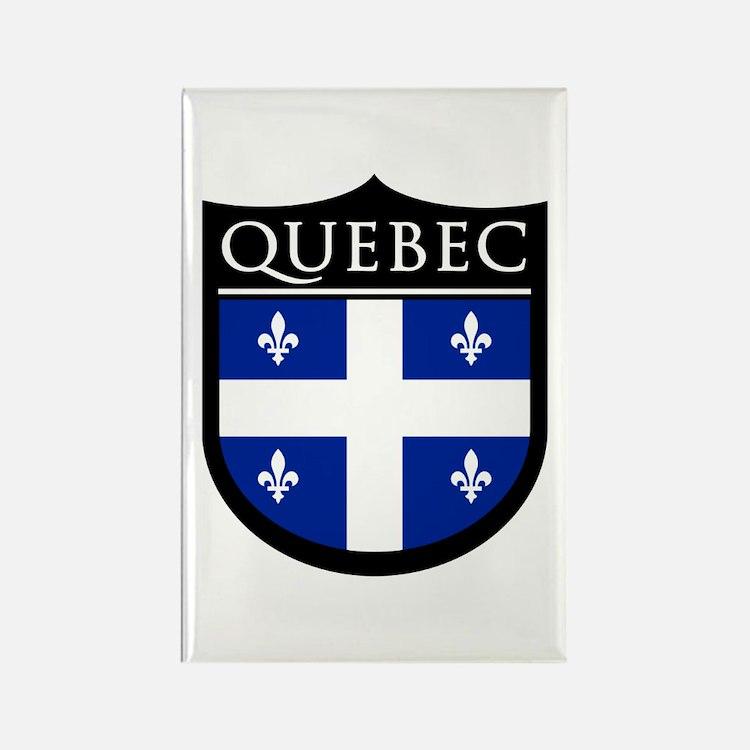 Quebec Flag Patch Rectangle Magnet