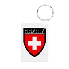 Swiss (HELVETIA) Patch Aluminum Photo Keychain