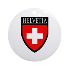 Swiss (HELVETIA) Patch Ornament (Round)