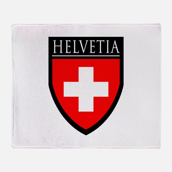 Swiss (HELVETIA) Patch Throw Blanket