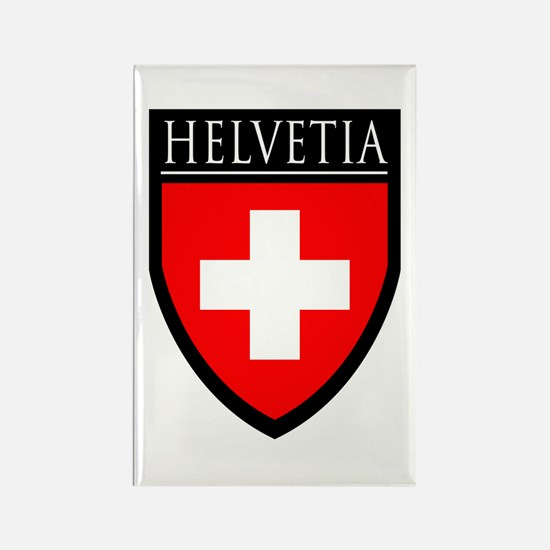 Swiss (HELVETIA) Patch Rectangle Magnet