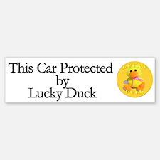 Lucky Duck Cute Car Bumper Bumper Bumper Sticker